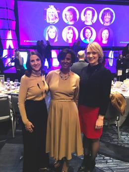 April Edrington, Dani Monroe and Laura Buso at the Pinnacle Award event.