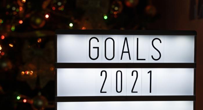 2021 goals sign